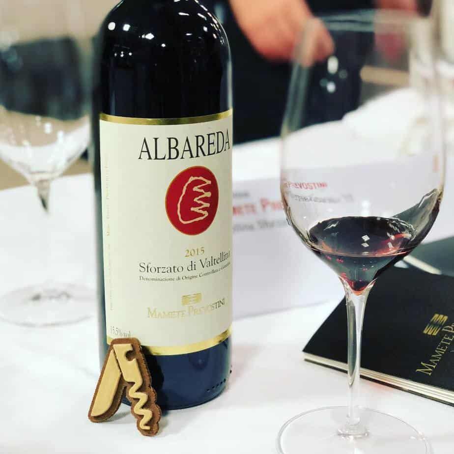 Degustando il Vino Sforzato di Valtellina Albareda 2015, Mamete Prevostini