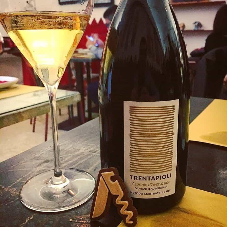 Degustazione del vino Asprinio d'Aversa Trentapioli, Salvatore Martusciello