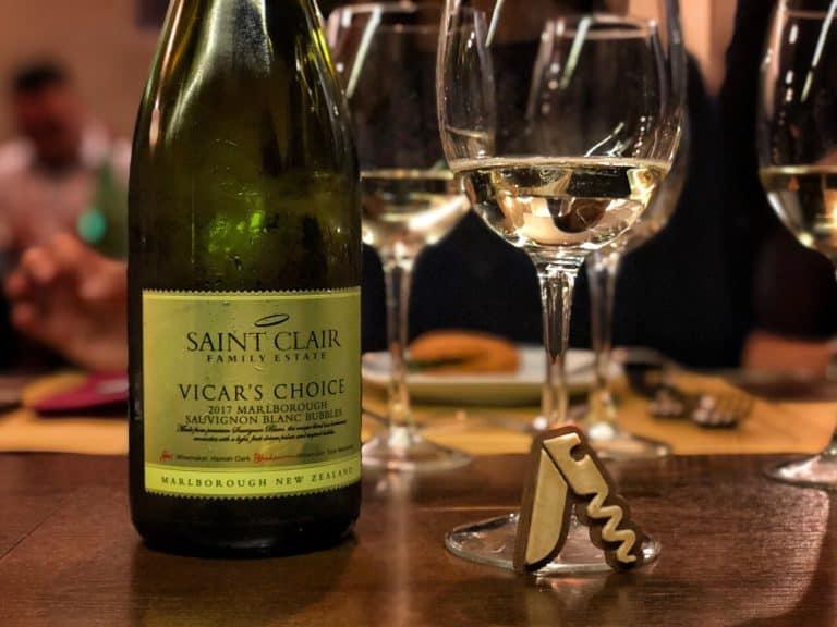 Degustando Vicar's Choice Sauvignon Blanc Bubbles 2017 di Saint Clair Family Estate