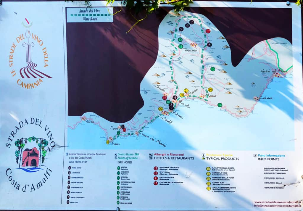 La strada del vino del costa d'amalfi