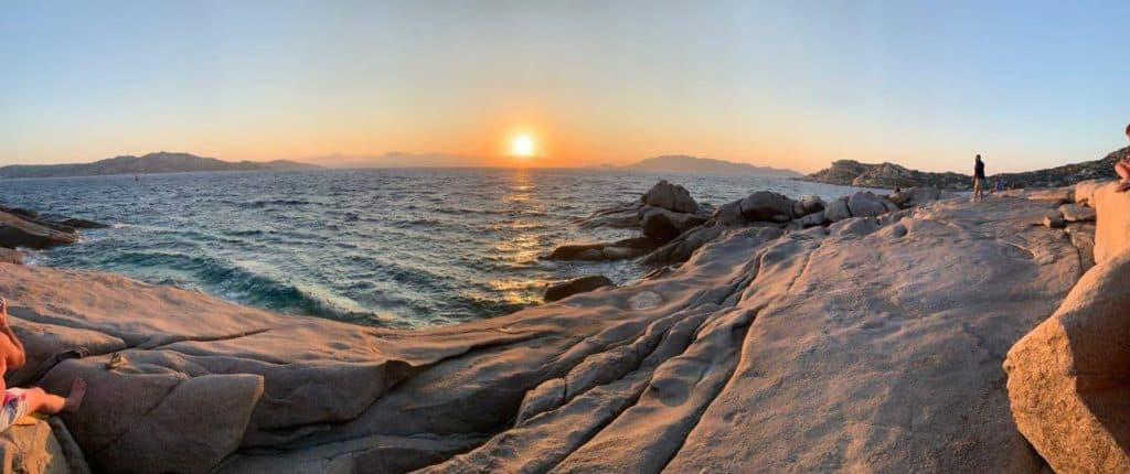 Panoramica di Punta Tegge al tramonto