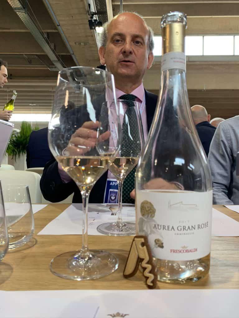 L'Aurea Gran Rosè di Frescobaldi.