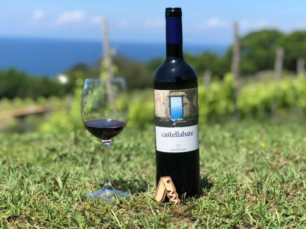 Bottiglia di Castellabate dell'azienda agricola san giovanni